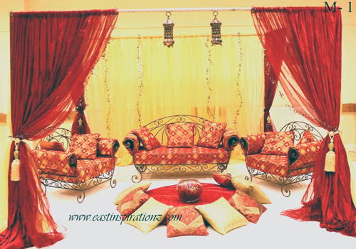 Moroccan arabic mehndi wedding stage stages decor for Arabic stage decoration